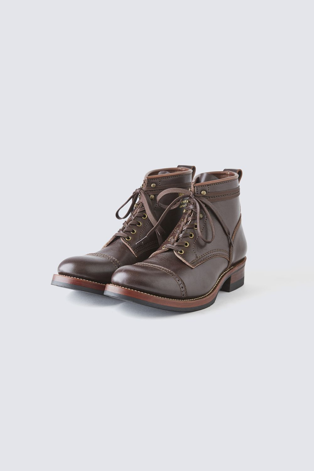 BUILT TO ORDER - AB-02C STEERHIDE CAP TOE LACE-UP BOOTS