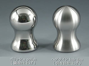 Shift knob for manual cars_Heavy weight Type482 <Stainless steel> (Hairline) M10xp1.25