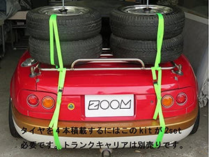 Optional parts for Eunos Mazda NA, NB, NC, ND Roadster [2 tire stacking kit with wheels] (for trunk carrier)