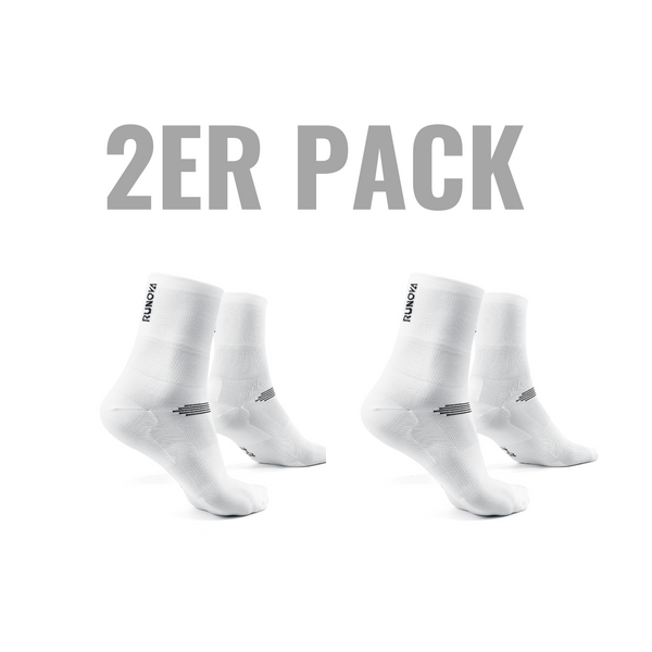 2er Pack | Performance Laufsocken | weiß