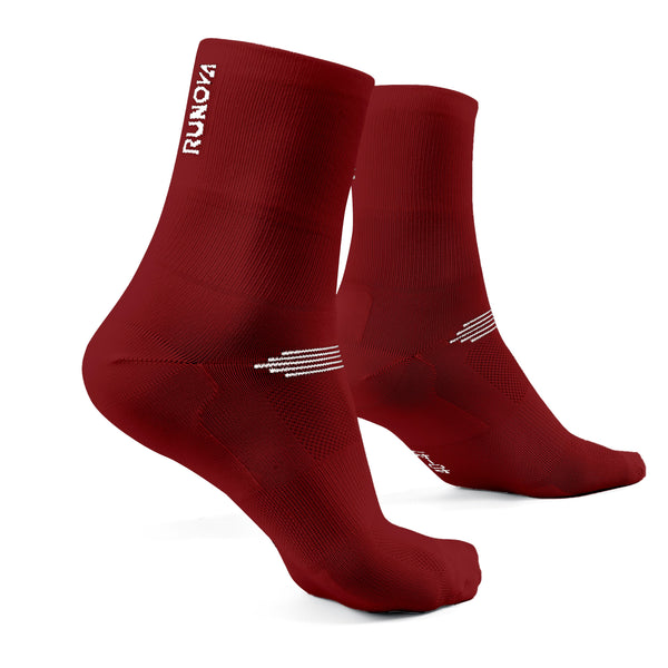 1er Pack | Performance Laufsocken  | weinrot