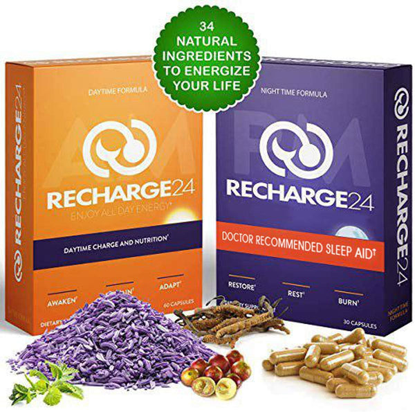 RECHARGE24 AM/PM Energy Pills and Sleep Aid