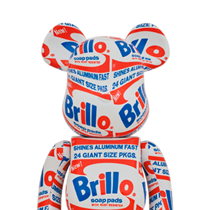 Bearbrick 'Andy Warhol - Brillo' 100% & 400%
