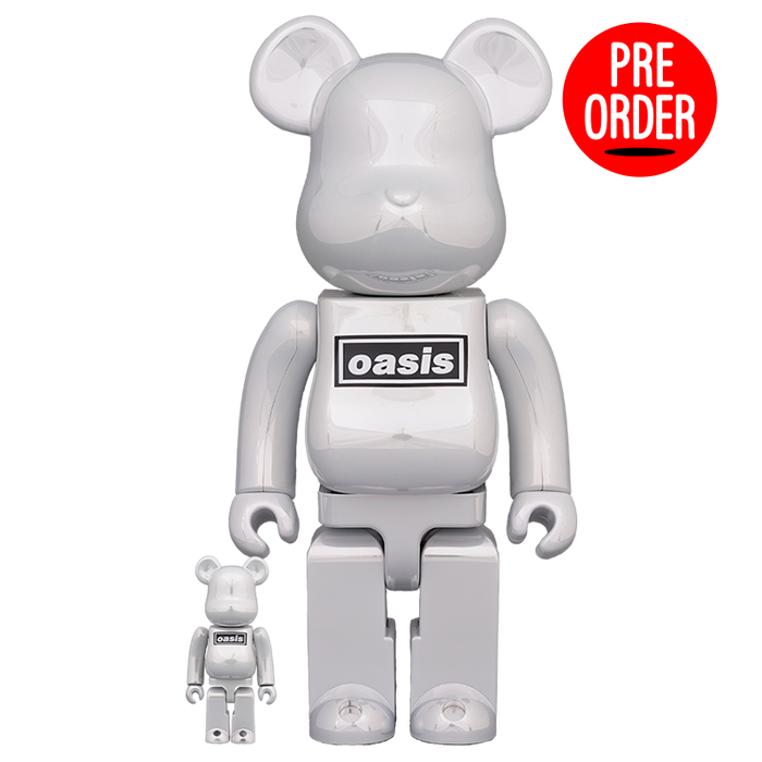 Bearbrick 'Oasis White Chrome' 100% & 400%