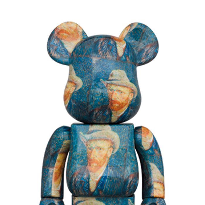 Bearbrick 'Van Gogh - Self-Portrait With Grey Felt Hat' 100% & 400%