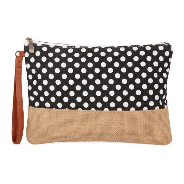 Deluxe Cosmetic Pouch- Polka Dots