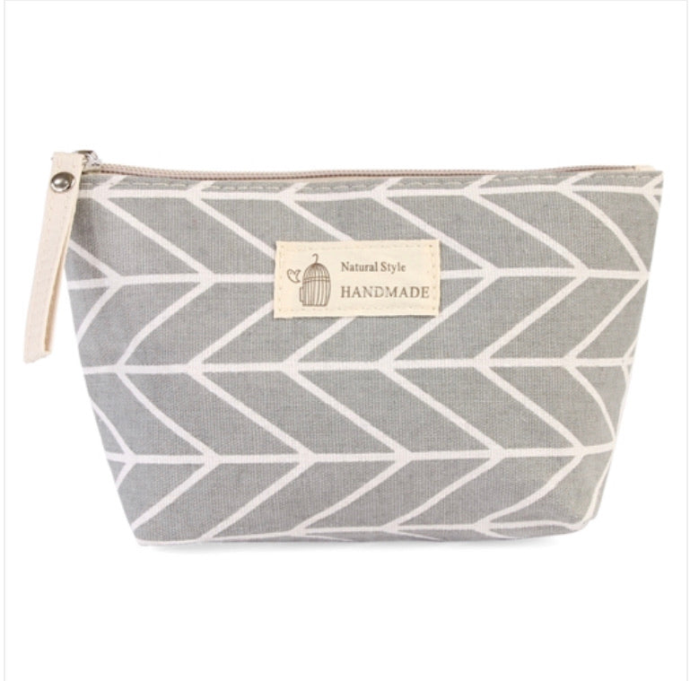 Grey Chevron Pouch