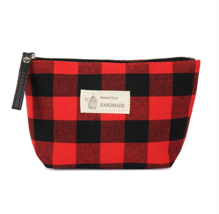 Red Buffalo Plaid Pouch