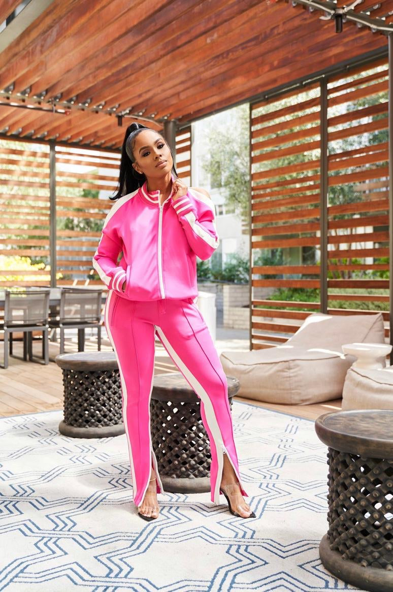 Two Piece Pants Tracksuit Set