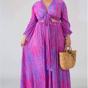 Pink & Purple Maxi Dress