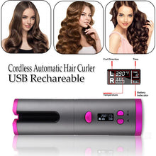 Load image into Gallery viewer, Cordless Automated Hair Curler