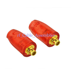 1Set Red shell MMCX Male Connector Straight For Shure SE215 SE315 SE425 earphone