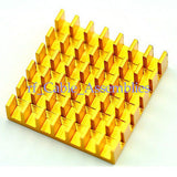 10PCS 22x22x6MM High Quality golden slotted Aluminum Heat Sink Router Computer
