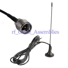 Antenna 433Mhz,3dbi MINI UHF Plug Male straight with Magnetic base for Ham radio