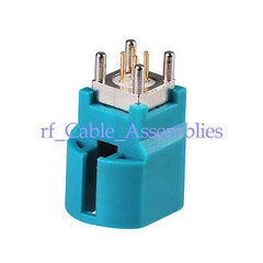HSD RF Connector  Z Water Blue Jack Female Vertical PCB mount RF connector