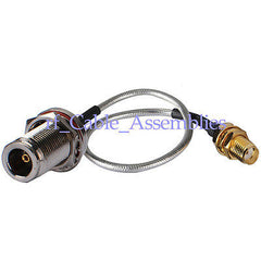 SMA female to N female Jack bulkhead Semi-Flexible cable RG402 0.141  for wifi