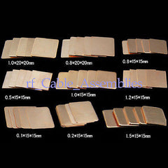 15pcs Laptop GPU CPU Heatsink Copper Shim DIY 15mmx15mmx0.8mm Cooling