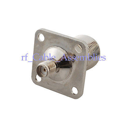 N Type Jack Female Panel Mount 4 Hole Bulkhead To Sma Jack