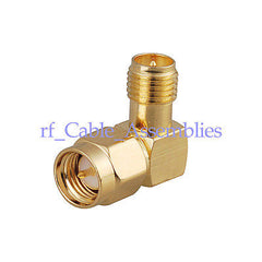 RF SMA adapter Right Angle SMA Male Plug RA to RP SMA female Jack RF Connector