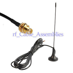 Antenna 433Mhz 3dbi RP SMA female bulkhead 3M with Magnetic base for Ham radio