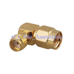 RF SMA adapter SMA female to RP SMA male right angle plug RA RF Coax Connector
