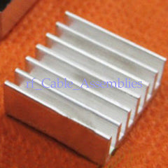 8x Aluminum Heat Sink Chip Heatsink adhesive 14*14*6mm LED IC Power Transistor