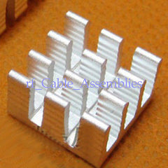 10x Aluminum Heatsink Heat Sink FOR Electronic adhesive 50x25x10mm FOR Computer