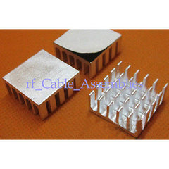 10x High Quality Aluminum Heat Sink 22x22x10mm For Computer Electronic+ adhesive