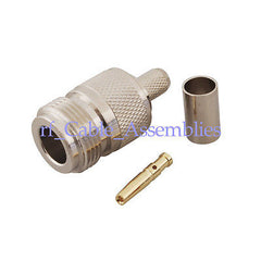 New N Female Jack Connector Crimp for LMR240 Cable Straight RF Coax Connector