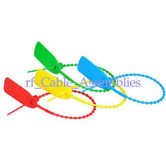 10x colorized High quality Plastic pull tight security seal for containers 310mm