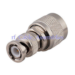 N male plug to BNC male plug straight RF coaxial adapter connector