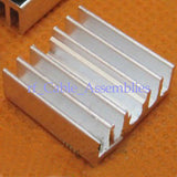 10pcs 15*15*5.5mm Aluminum Heat Sink Chip Heatsink Computer, CPU radiation FIN
