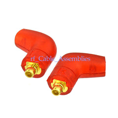 1 pair Red shell MMCX Connector Right Angle For Shure SE215 SE315 UE900 earphone