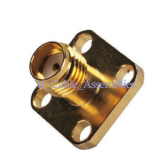 SMA 4 hole panel mount jack with solder cup RFconnector