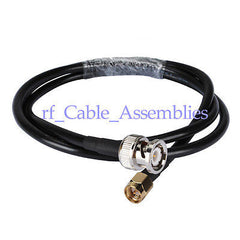 Superbat WLAN KSR195 RF Antenna Coax Cable BNC male plug to SMA male Pigtail cable 300cm