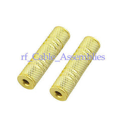10pcs 3.5mm Stereo female to jack coupler adapter Audio extension connector Gold