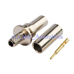 50 Ohm SMB Fakra male plug Straight Crimp Attachment RG316 RG174 RF Connector