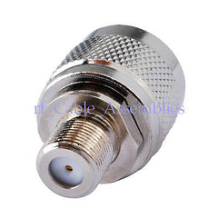 10x N-Type N male plug to F female jack RF coaxial adapter connector Zinc Alloy