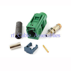 Fakra crimp Jack connector Green /6002 Car TV1