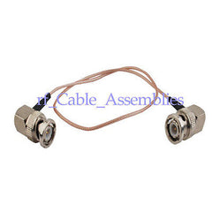 10x BNC male plug right angle to BNC male RA coaxial cable RG316 pigtail 8  20cm