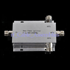 800-2500MHz 3-way Power Divider N female jack RF connector 140X85x22mm
