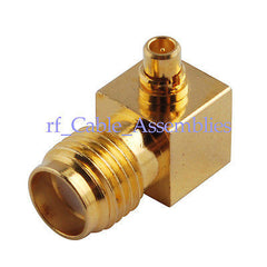 500X SMA-MMCX adapter SMA Jack to MMCX Plug Right Angle