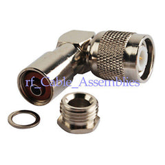 90 deg TNC Plug male Right Angle Clamp LMR195 RG58 RG400 RF connector adapter