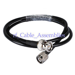 RF Jumper Cable BNC male to TNC male Pigtail COAXIAL KSR195 1M for wifi antenna