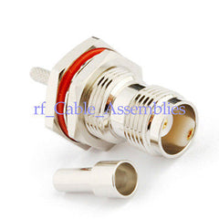 10pcs TNC female nut bulkhead O-ring Crimp RG316 RG174 RG178 cable RF connector