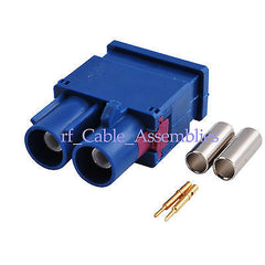 Fakra Double  C  male Plug RF connector Crimp Attachment RG174 for GPS telematic