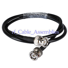 BNC plug to BNC plug male RF coaxial pigtail cable RG58 for wireless