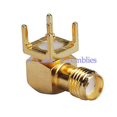 SMA thru hole Jack right angle PCB Mount short version