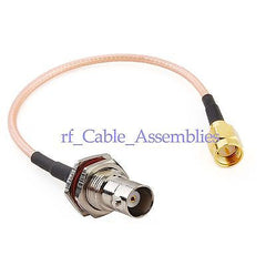 10x SMA male to BNC female RF pigtail cable for wifi antenna 30CM HOT