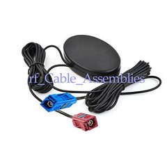 Amplified Remote GPS+GSM Combined Antenna Fakra